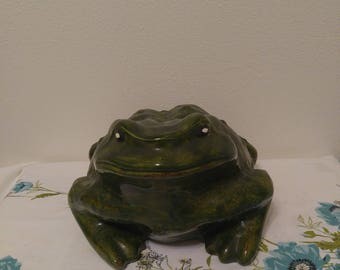 Free Shipping Anywhere!!! Vintage Ceramic Frog Garden Statue
