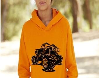 Kids hoodie, monster truck sweatshirt, racing hoodie, kids jumpers, momster truck hoodie