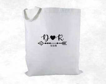 Personalized Wedding Gift Bag, Canvas Tote Bag, Wedding Favor Bag, Wedding Welcome Bag, Bridal Gift
