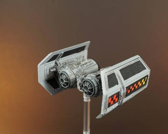 Custom Painted and Modified X-Wing Miniature Imperial TIE Shuttle