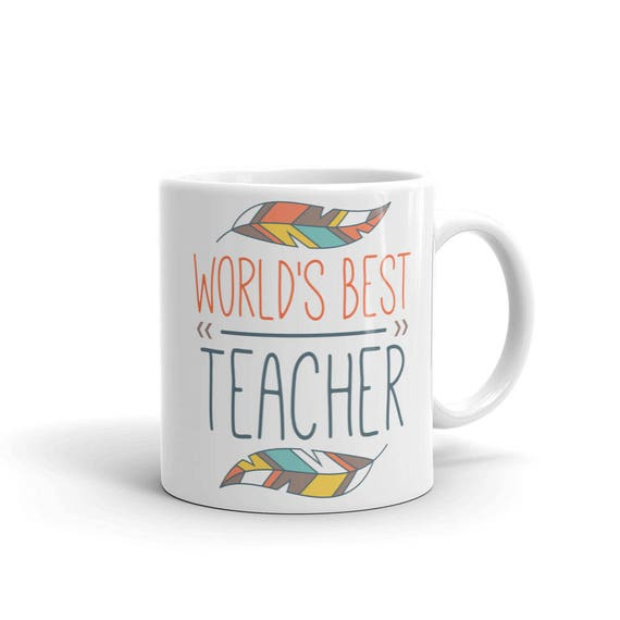 World's Best Teacher Mug, Teacher Appreciation Mug, Back to School Mug, 100 Days of School, Best Teacher mug, teacher gift, teacher present