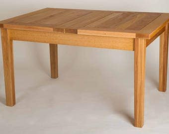 Red Oak Dining Table and Chairs