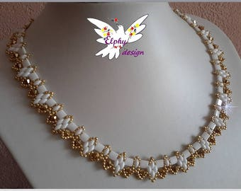 Gold plated necklace White Pearl ARUM