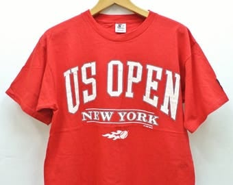 Vintage Starter US Open New York USTA T-Shirt Tennis Championship Top Tee Size M