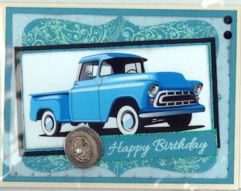 Old Truck Birthday Card