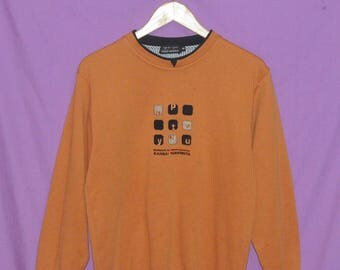 Vintage Up To You by Kansai Yamamoto Embroidered Logo Spellout  Sweatshirt Sweater Pullover Size Medium