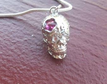 Sale Crystal skull necklace