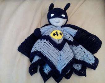 Large batman lovey security blanket baby