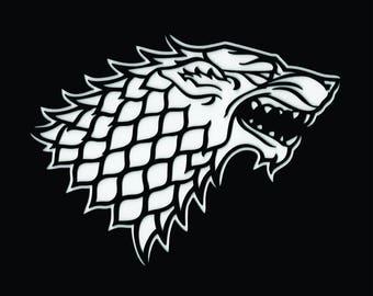 House Stark Stencil - Game of Thrones - Mat Series