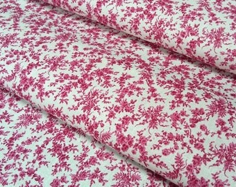 Fabric Liberty Chatterbox color raspberry - sold in multiples of 50 cm x 148 cm cut - 100% cotton