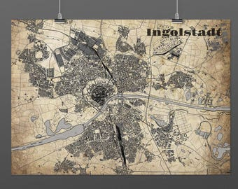Ingolstadt DIN A4 / DIN A3 - print - turquoise