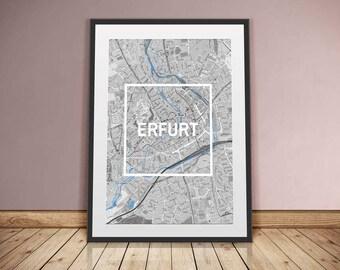 Erfurt-framed City-digital printing