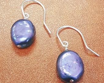 Beautiful and Lustrous Drop Shape Genuine Freshwater Pearl Earrings