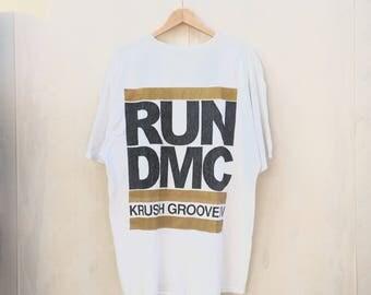 Vintage Run Dmc Krush Groove IV Shirt / Krush Groove 4 / Hip Hop / Tour / Movie