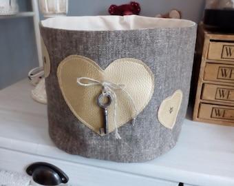 Linen storage basket