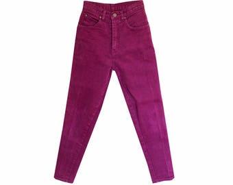 Maroon High Waisted Pants