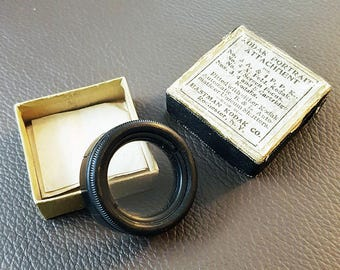 Antique 1900s Kodak Portrait Attachment Lens, with Original Box & Instructions