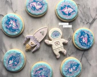 Galaxy cookies  Sugar cookies