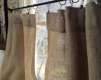 Burlap Sheers French Door Drapes Burlap Curtains French