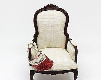 Miniature English Arm Chair by Bespaq /  Miniature Chair / Bespaq Chair / Miniature Arm Chair / Dollhouse Chair / Dollhouse Furniture /