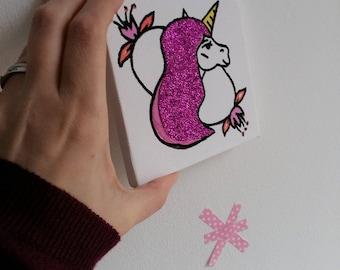 Tableau Licorne Pinkie