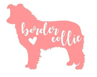 Border Collie Vinyl Decal | Personalized Pet Decal | Dog Sticker | Yeti Cup | Car Window Sticker | Laptop |