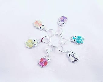 Owl Be There For You stitch markers, knitting stitch markers, snagless stitch markers, row marker
