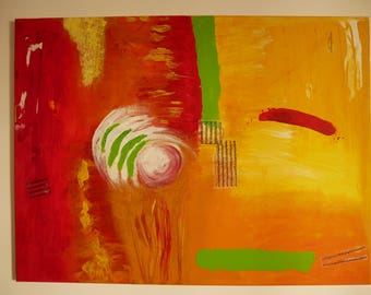 """Acrylic Painting - """"Red Stroke"""""""