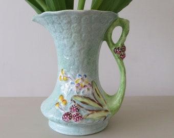 James Kent. Vintage 1930 James Kent Longton. Pale Blue Yellow Vintage 1930 James Kent Art Deco Vase 1130. 1930 Large Vase James Kent.
