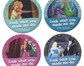 "Disney Inspired 3"" Button (Taylor Swift lyrics)"