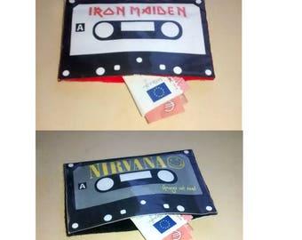 Wallet NIRVANA IRON MAIDEN heavy grunge cassette music