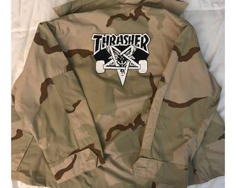 Thrasher Tan Camo Army Jacket