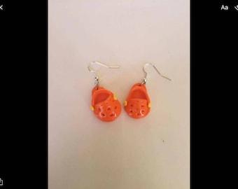 Orange earrings hooks