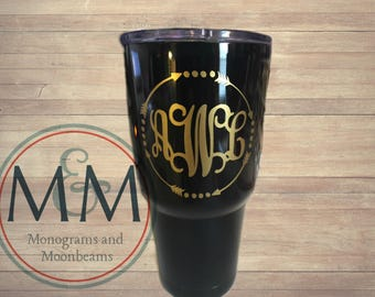 Monogrammed Insulated Tumbler - Various Brands