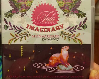 Tula Pink Imaginary Menagerie embroidery CD Spirit Animals