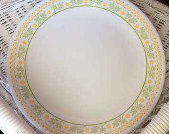 "Corelle ""Sunshine"" by Corning Blue and White Dinner Plate Vintage"