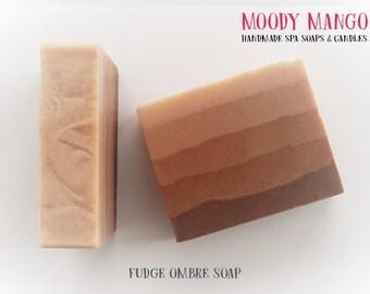 No17. Handmade 'FUDGE OMBRE' Soap