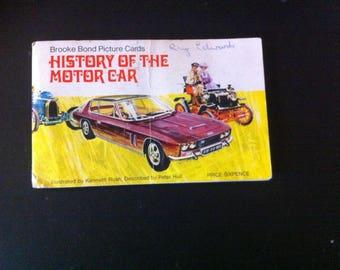 HISTORY Of The MOTOR CAR full set of 50 Brooke Bond Tea Cards In Official Album 1950s