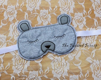 In The Hoop Projects 5x7 Embroidery Design Designs Bear Sleep Mask Machine Embroidery Designs Instant Download