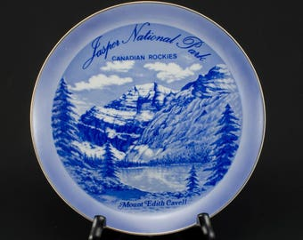 Jasper National Park /Canadian Rockies /Mount Edith Cavell / Souvenir Plate 1960s