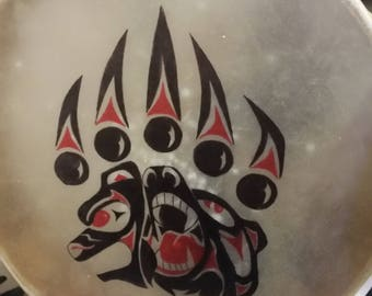 "16"" CUSTOM Hand Painted Native American Hand Drum"