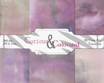 20 Ethereal Painted Background Photoshop Textures