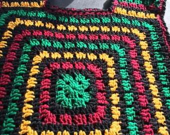 SOLD----Granny's  squares  vest top poncho