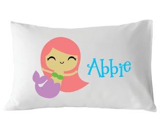 Personalized Pillowcase, Mermaid Pillowcase, Girls Pillowcase