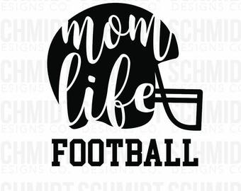 Mom Life Football - Iron on and Stick on Decals