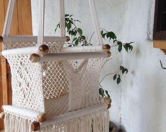 Baby Swing Chiair - Ecru - Cream / 100% cotton