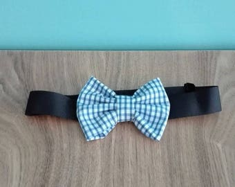 Bow tie Choker adjustable child/baby gingham pattern