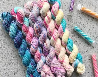 MAGIC WAND - How I Roll Fade Sock Set - 5 20g Mini Skeins - Smooth Sock 4-ply (Superwash Merino/Nylon Blend) **PREORDER**
