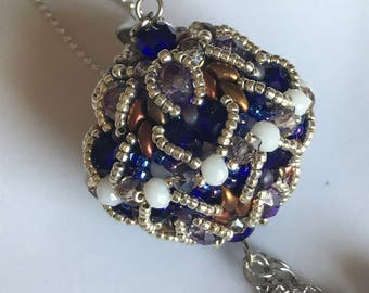 Sphere with crystals and beads