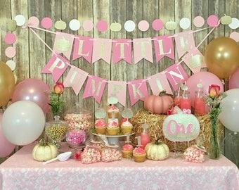 Little Pumpkin Banner, Birthday Banner, First Birthday, Baby Shower, Photo Prop, Party Decor